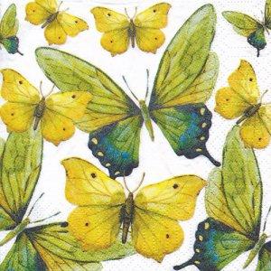 ペーパーナプキン(25)ppd:(5枚)Green Butterflies-PP29(25)