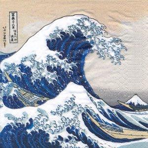 ペーパーナプキン(25)ppd:(5枚)The Great Wave-PP32(25)