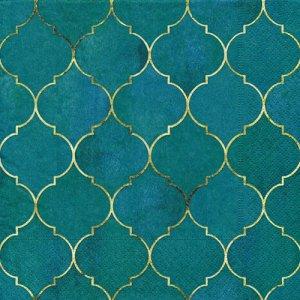 ペーパーナプキン(33)paper duni:(5枚)Gold Tile-PA350
