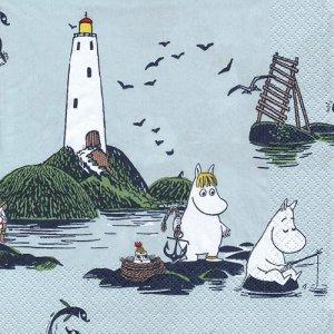 ペーパーナプキン(33)moominムーミン:(5枚)ムーミンと海 -mo40