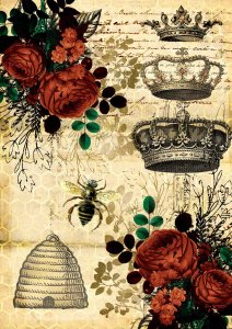 <img class='new_mark_img1' src='https://img.shop-pro.jp/img/new/icons1.gif' style='border:none;display:inline;margin:0px;padding:0px;width:auto;' />【A4】Decoupage Queen ライスペーパーDQRP_0007