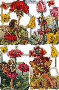 スクラップシート:花の妖精(フラワーフェアリー)4