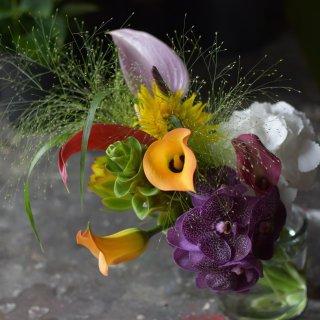 父の日の花束(フラワーベース付き)