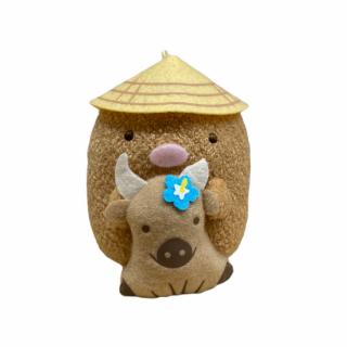 石垣島限定 すみっコぐらし 【水牛でぶらり ぬいぐるみキーチェーン とんかつ】