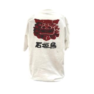 魔除獅子柄Tシャツ