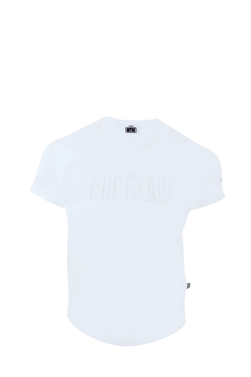 EMBOSSED LOGO T-SHIRTS WHITE