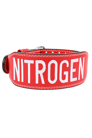 BRAND LOGO LEATHER BELT RED