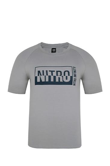 NITRO 3D LOGO T-SHIRTS GRAY