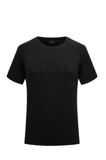 EMBOSSED LOGO T-SHIRTS BLACK