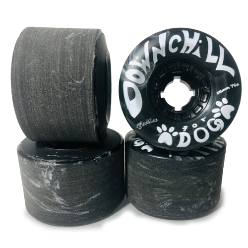 """DOWN CHILL WHEEL  """"for DOG"""" BLACK 66mm 76a"""
