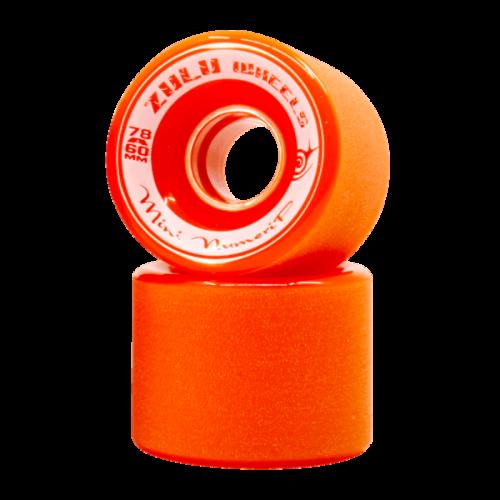 ZULU WHEELS ミニヌメリップ 78A 60mm オレンジ