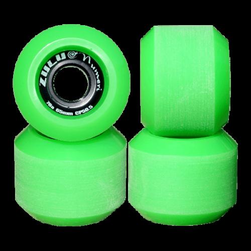 ZULU WHEELS ヌメリ 78A 65mm グリーン