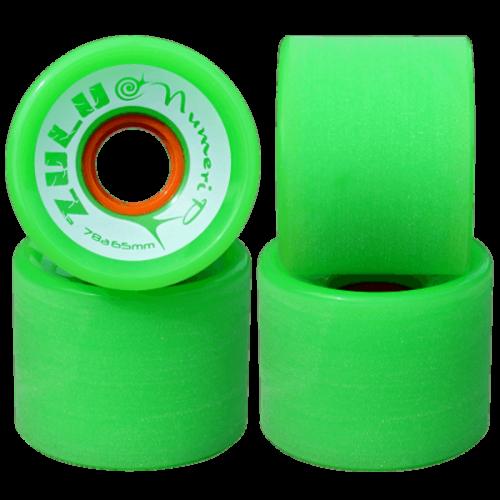 ZULU WHEELS ヌメリップ 78A 65mm グリーン