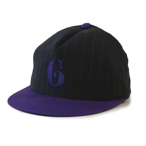 Gacious / G LOGO CAP / BLACK x PURPLE