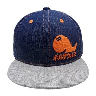 ボルサウルス デニムキャップ(ツバ直)(デニム×杢グレー×オレンジ)(Jr.ジュニアサイズ)