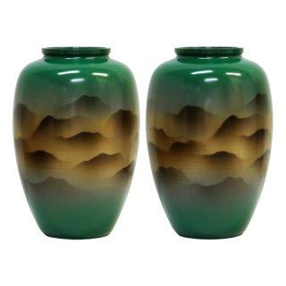 仏壇用花瓶/仏間用花瓶 太夏目立山連峰8号