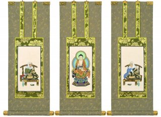 仏壇用掛軸(手書上仕立て) 天台宗・70代