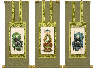 仏壇用掛軸(手書上仕立て) 曹洞宗・70代