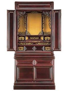 唐木仏壇(台付き) 出須弥40号桜色(高さ:121.1cm 幅:57.9cm)