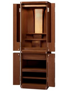 モダン仏壇 家具調仏壇 カメリア47号ウォールナット(高さ:143.5cm 幅:48cm)