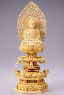 仏像 座釈迦 釈迦如来(柘植 ツゲ・ケマン座) 2.5寸