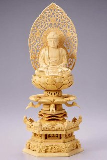 仏像 座釈迦 釈迦如来(柘植 ツゲ・ケマン座) 3.0寸