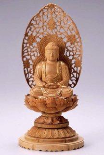 仏像 座釈迦 釈迦如来(白檀・丸台座) 2.0寸