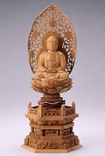 仏像 座釈迦 釈迦如来(白檀・六角座) 3.0寸