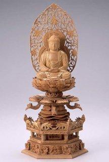 仏像 座釈迦 釈迦如来(白檀・ケマン座) 2.5寸