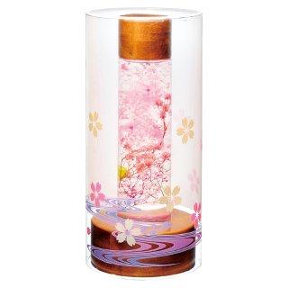 盆提灯 ルミナス灯 プリザーブドフラワー やすらぎの灯り1号(ショート) 桜 No.130