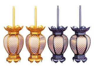 吊灯籠 院玄灯籠 七宝透灯籠(アルミ製・大)
