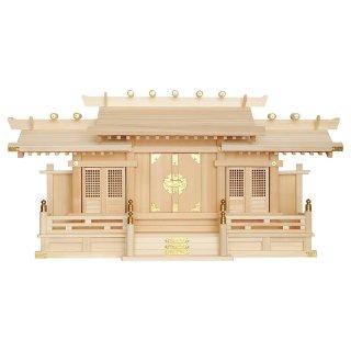 神棚 格子付三社(木曽ひのき製)