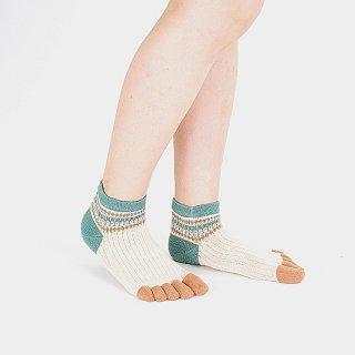 フォーク柄 5本指短々靴下