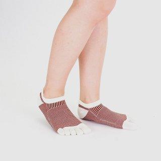 パネル柄五本指短々靴下