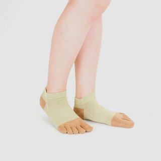 和紙ツートン五本指短々靴下
