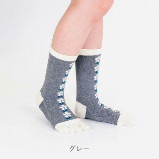 マティ柄五本指靴下