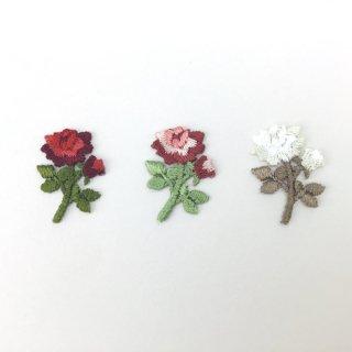 刺繍アイロン圧着ワッペン【薔薇】