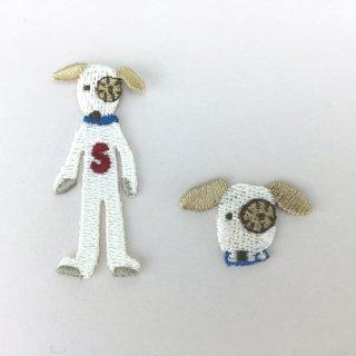 刺繍アイロン圧着ワッペン【ドッグ 2個セットB】