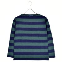 < SAINT JAMES / セントジェームス > OUESSANT WIDE BORDER NAVY / PIN