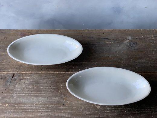 オーバル鉢(白磁)/ 伊藤叔潔