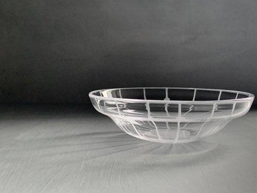 ガラス鉢(線と丸)/塩谷直美