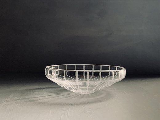 ガラス鉢(線)/塩谷直美
