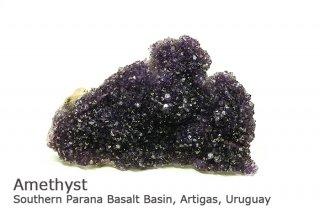 アメジスト 結晶 ウルグアイ産|Southern Parana Basalt Basin, Artigas, Uruguay|Amethyst|紫水晶|