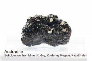 アンドラダイト 結晶 カザフスタン産|Andradite|ガーネット|メラナイト|Sokolovskoe Iron Mine, Kazakhstan|灰鉄ザクロ石|
