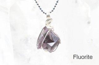 フローライト 結晶ペンダント イングランド|蛍光|Weardale Heather Pocket, Diana Maria Mine|Fluorite|蛍石|