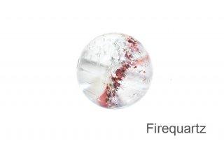 【ビーズ】ファイアークォーツ 9mm ビーズ|マダガスカル産| 1粒販売| Firequartz|