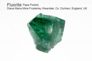 【Papa Pocket】フローライト 結晶石 イングランド産|ダイアナマリア|蛍光|Papa Pocket, Diana Maria Mine UK|蛍石|