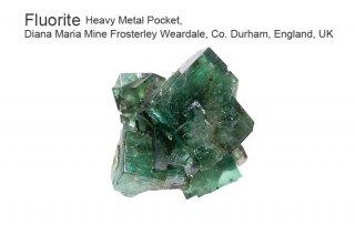【Heavy Metal Pocket】フローライト 結晶石 イングランド産|ダイアナマリア|蛍光|Heavy Metal Pocket, Diana Maria Mine UK|蛍石|