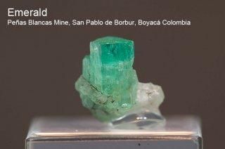 エメラルド on カルサイト 結晶 コロンビア産|緑柱石|Penas Blancas Mine, San Pablo de Borbur, Boyaca Colombia|Emerald|2069A|