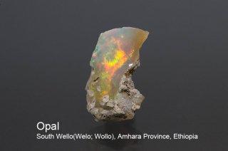 オパール 結晶石 エチオピア産|蛋白石|South Wello(Welo; Wollo), Amhara Province, Ethiopia|Opal|